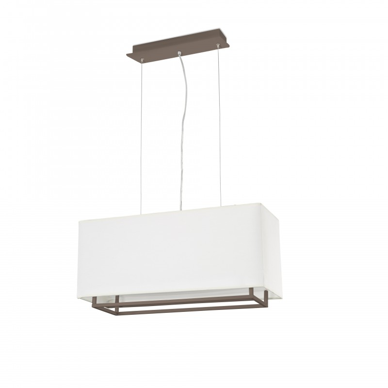 VESPER-1 Lampe suspension marron