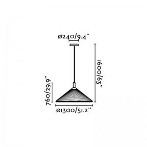 HUE IN Lampe suspension marron ø1300