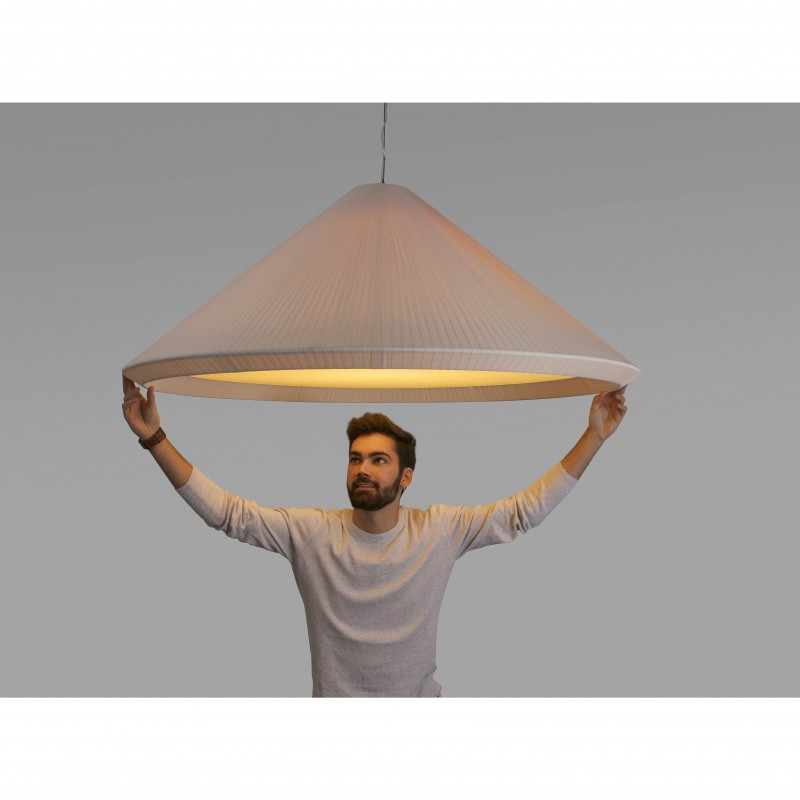 HUE IN Lampe suspension blanche cassé ø1300