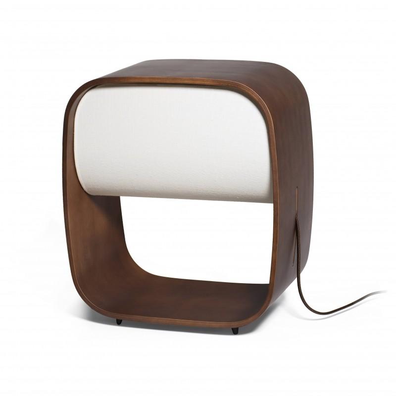 1968 Lampe de table bois