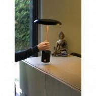 HOSHI LED Lampe portable noire et cuivre brossée