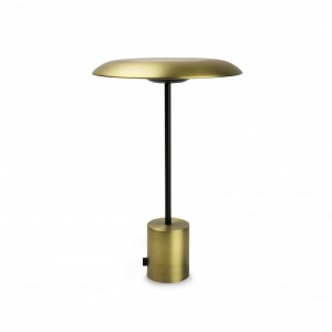 HOSHI LED Lampe portable or satiné et noire