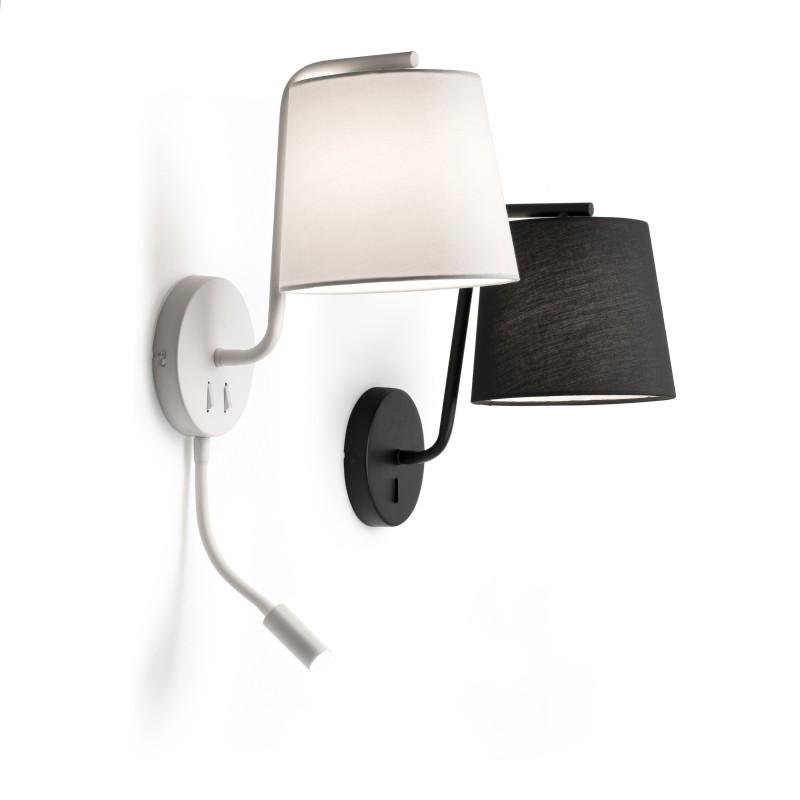 BERNI Lampe applique blanche avec lecteur LED