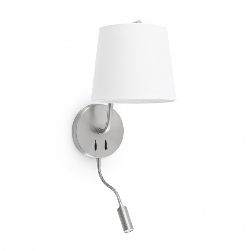 BERNI Lampe applique nickel satiné avec lecteur LED