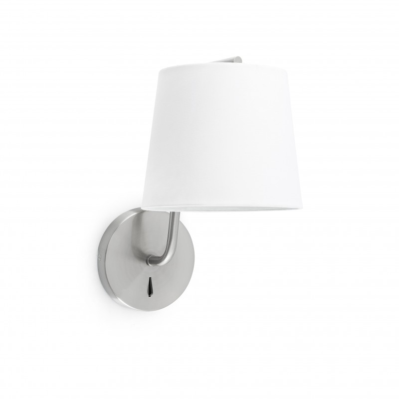 BERNI Lampe applique nickel satiné