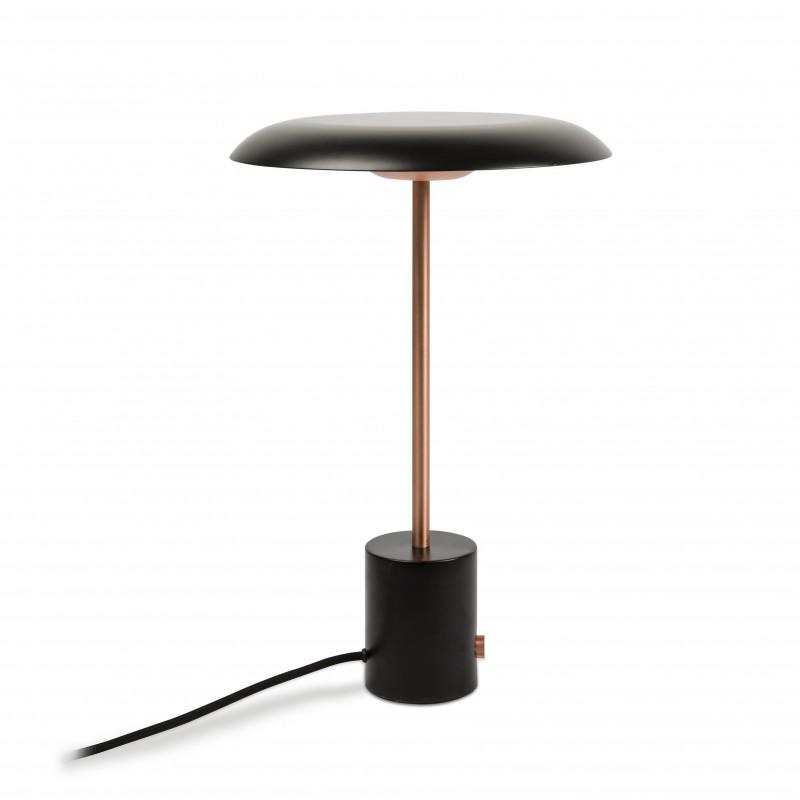 HOSHI LED Lampe de table noire et cuivre brossée