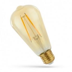 Ampoule LED 2w E27 à filament rétro ST64