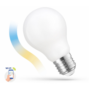 Ampoule LED A60 5w COG 230v CCT + DIM milky smart Wi-Fi