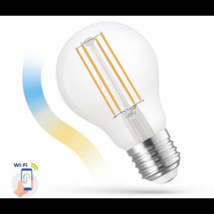 Ampoule LED A60 5w COG 230v CCT+DIM Clear smart Wi-Fi