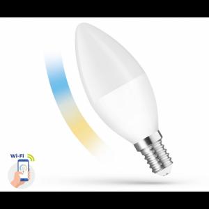 Ampoule LED C38 5w E14 230v CCT+ DIM smart Wi-fi