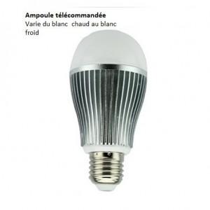 Ampoule LED E27 - 9w -blanc dynamique FUT019