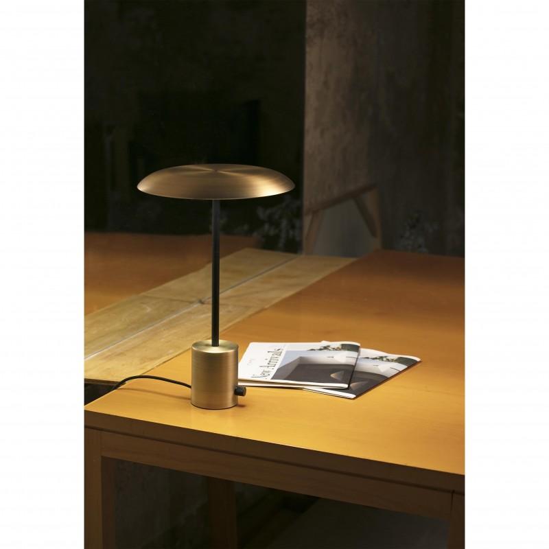 HOSHI LED Lampe de table or satiné et noire