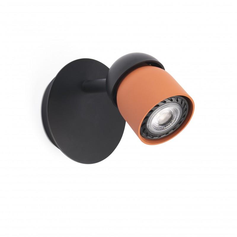 COCO Lampe applique noir/terracotta 1L