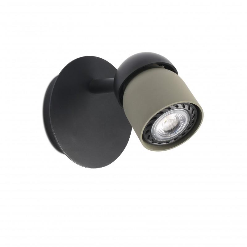 COCO Lampe applique noir/vert 1L