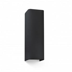 COTTON Lampe applique noir carré 2L