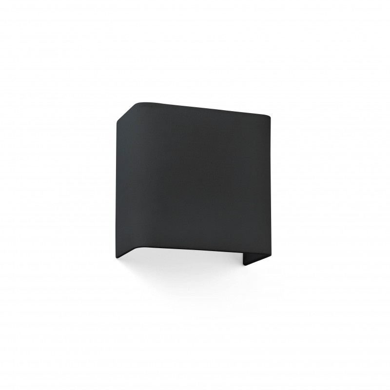 COTTON Lampe applique noir carré