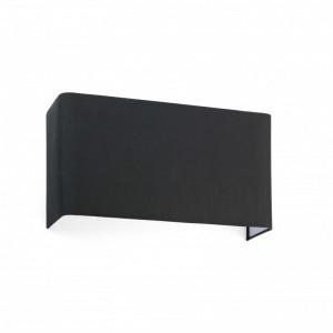 COTTON Lampe applique noir carré  horizontal 2L