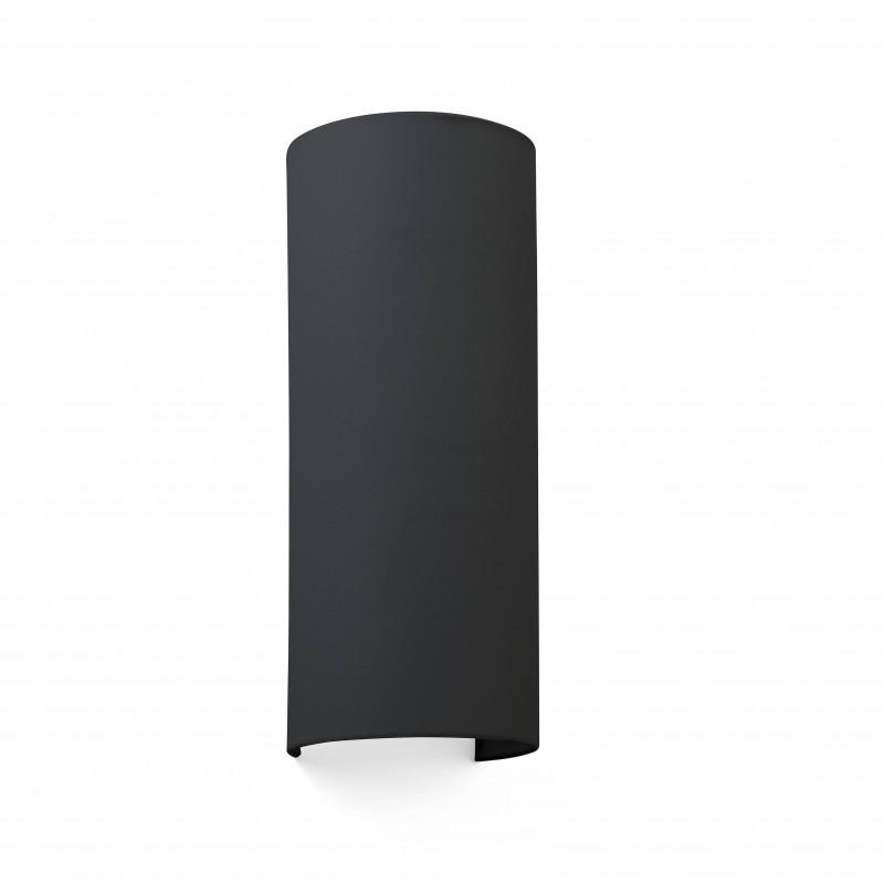 COTTON Lampe applique noir ronde 2L