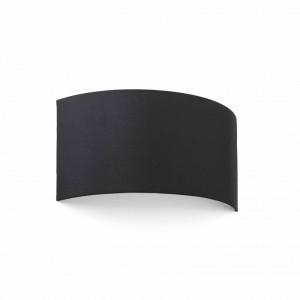 COTTON Lampe applique noir ronde horizontal 2L