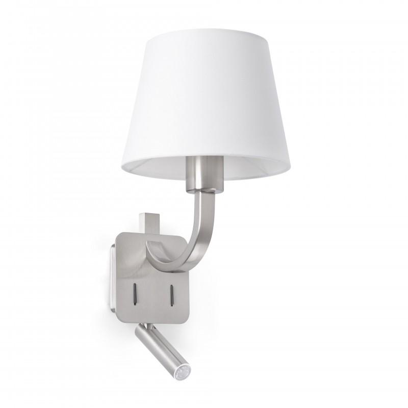 ESSENTIAL Lampe applique nickel mat avec lecteur LED