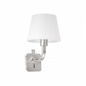 ESSENTIAL Lampe applique nickel mat