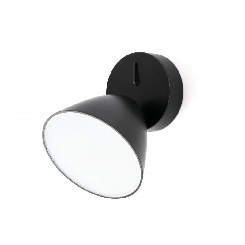FLASH LED Lampe applique noire 1L