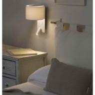 FOLD Lampe applique blanche avec lecteur LED