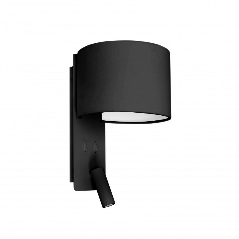 FOLD Lampe applique noire avec lecteur LED