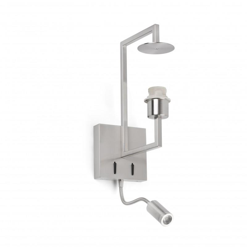 FRAME Lampe applique nickel mat avec lecteur LED