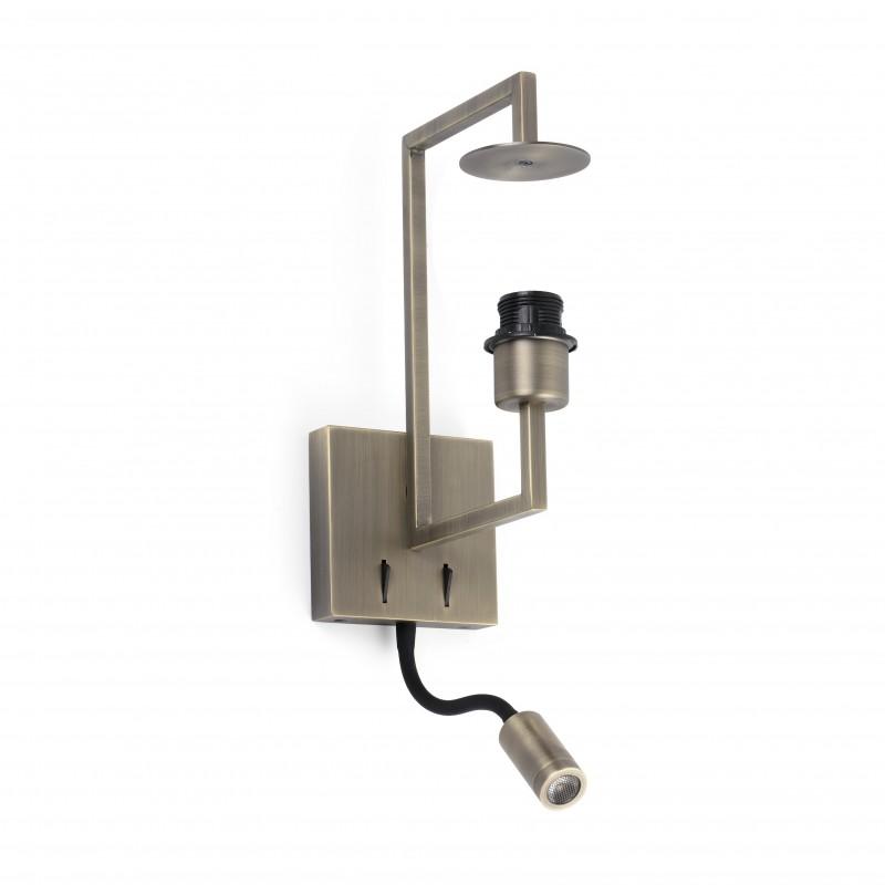 FRAME Lampe applique vieil or avec lecteur LED