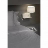 HANDY Lampe applique blanche avec lecteur LED droite