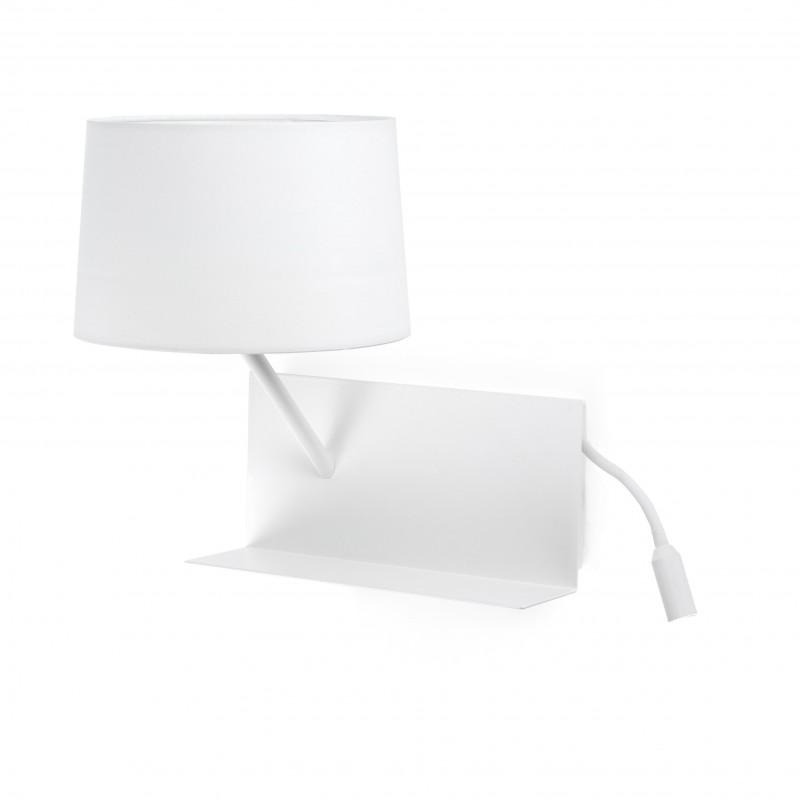 HANDY Lampe applique blanche avec lecteur LED gauche