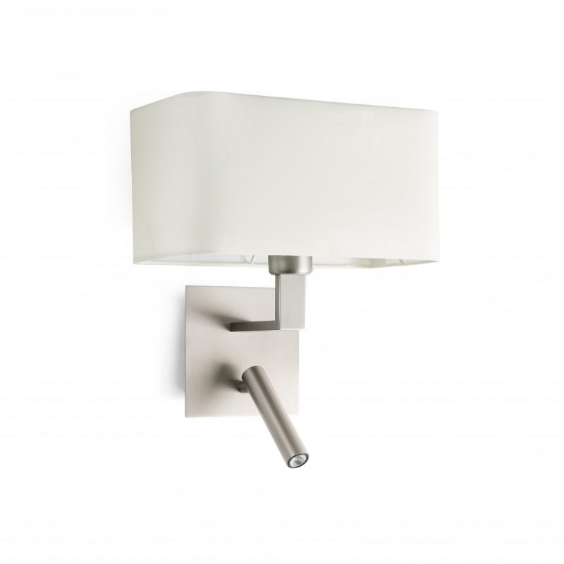 HANNA Lampe applique nickel avec lecteur LED