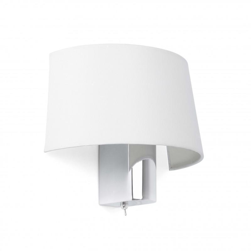 HOTEL Lampe applique blanche 1L