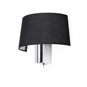 HOTEL Lampe applique noir 1L