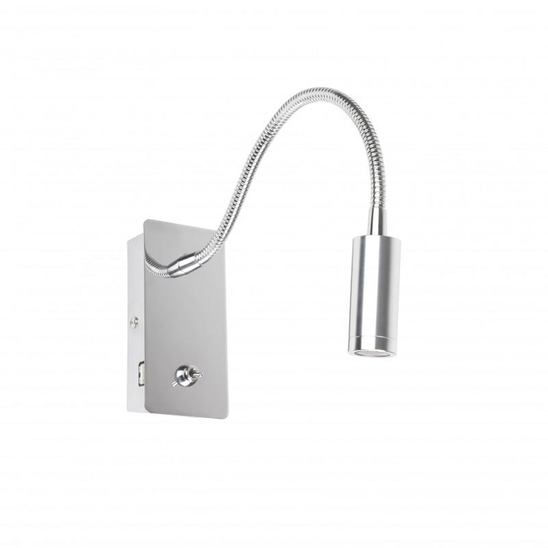 JULIET LED Lampe applique lecteur chrome avec USB