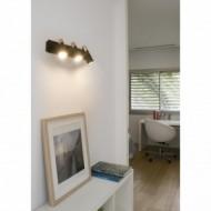 LAO LED Lampe applique noir et cuivre 3L
