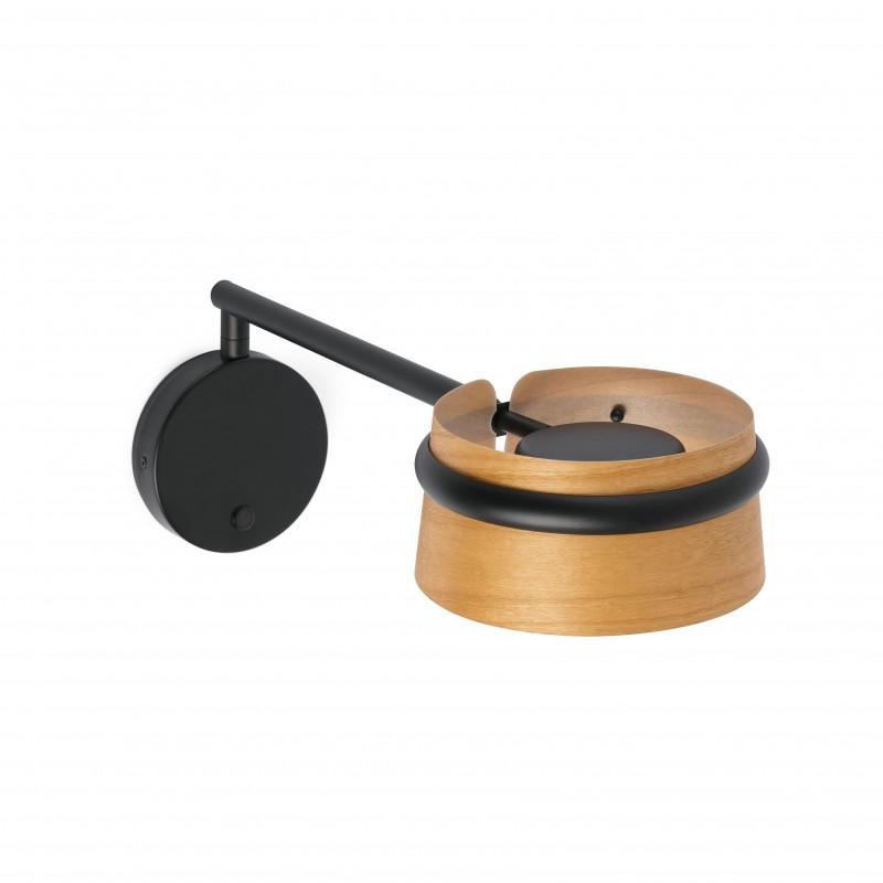 LOOP LED Lampe applique noire avec bras articulé