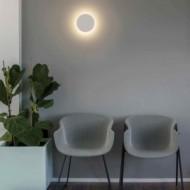 LUNA LED Lampe applique plâtre blanche