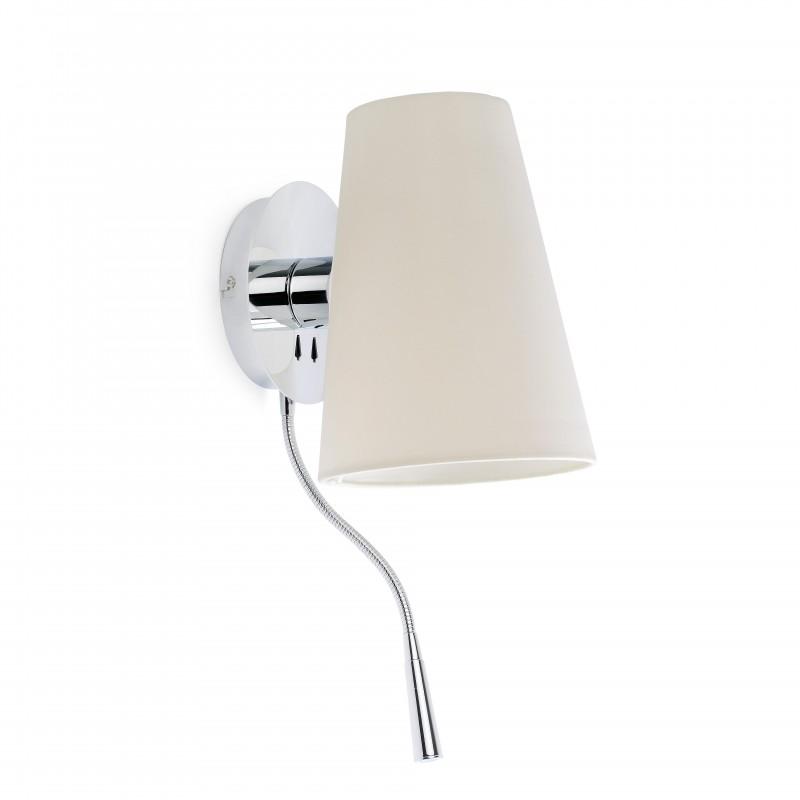 LUPE Lampe applique chrome avec lecteur LED