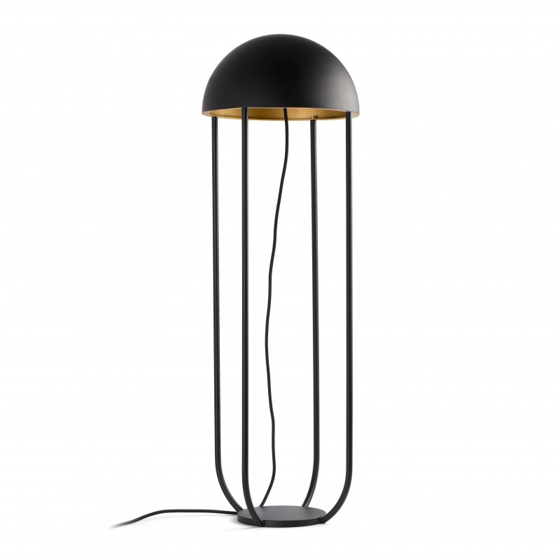 JELLYFISH LED Lampadaire noir et or
