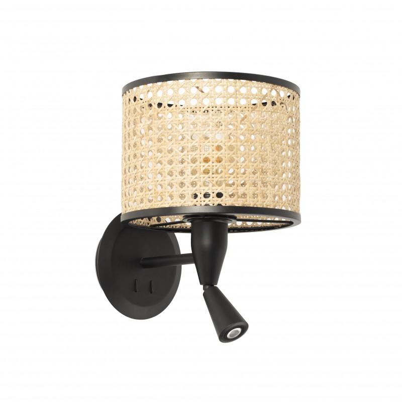 MAMBO Lampe applique noire avec lecteur LED