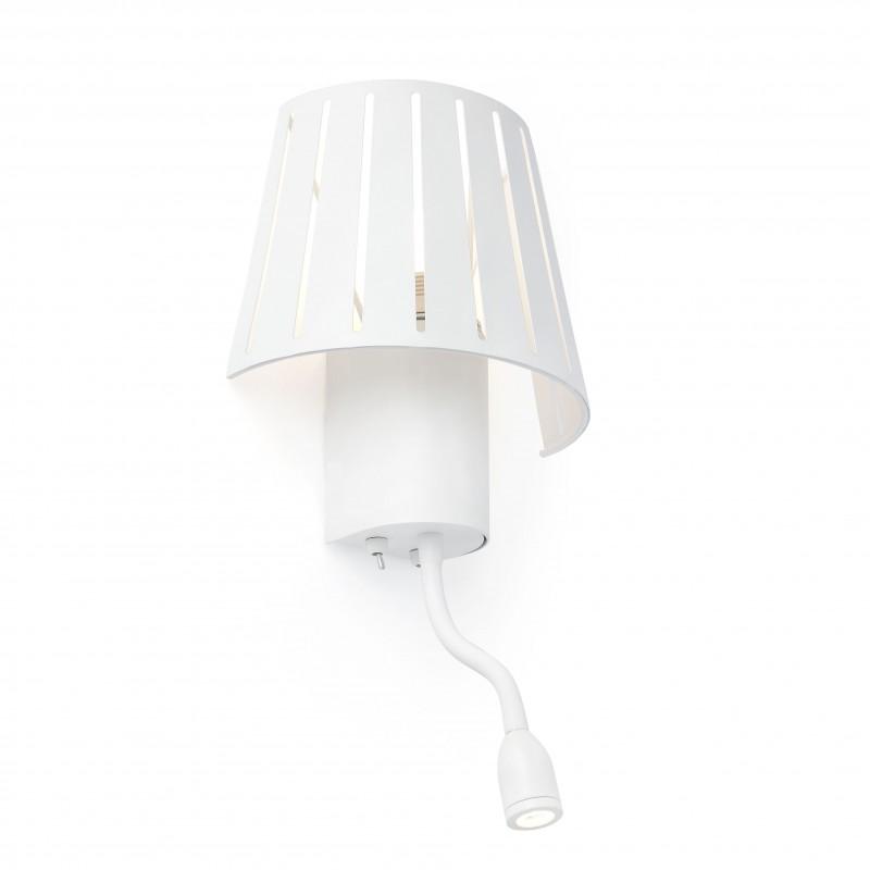 MIX Lampe applique blanc 1L avec liseuse LED