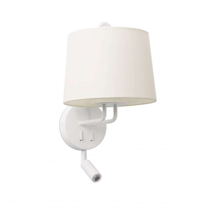 MONTREAL Structure applique blanche avec lecteur LED