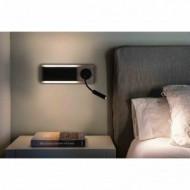 MOOD Lampe applique noire et bois avec lecteur