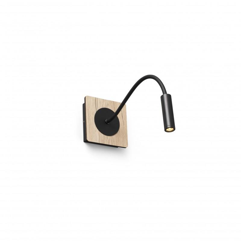 MOOD Lampe lecteur noire et bois
