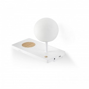NIKO LED Lampe applique gauche blanche diffuseur PC