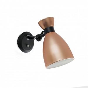 RETRO Lampe applique cuivre