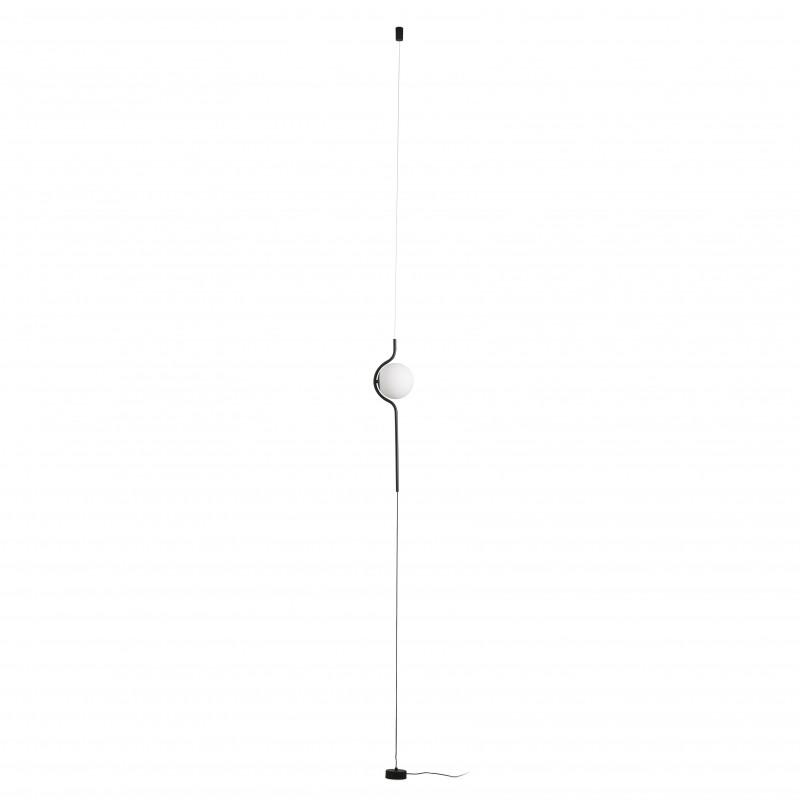 LE VITA LED Lampe suspension/lampadaire noir