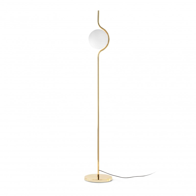 LE VITA LED Lampadaire dimmable or